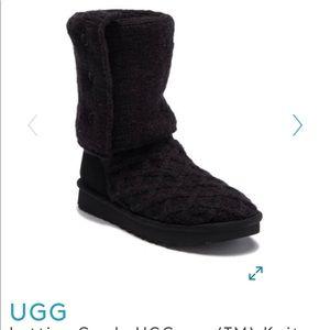 Ugg Lattice Cardy black boots!